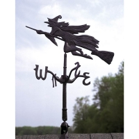 Flying Witch Rooftop Weathervane - Whitehall