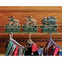 Whitehall Personalized Sleigh/Reindeer Stocking Holder