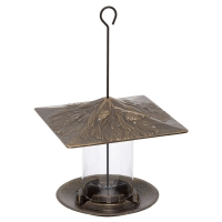 Pinecone 6 inch Tube Bird Feeder - French Bronze