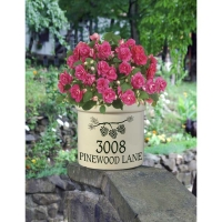 Pine Bough Address Personalized Crock - Whitehall