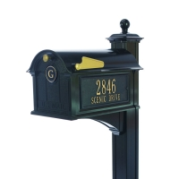 Balmoral Streetside Monogram Mailbox-Post Complete Package