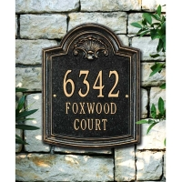 Elderwood Standard Wall-Lawn Three Line Plaque - Whitehall