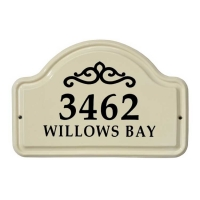 Classic Scroll Ceramic Arch Standard Wall Plaque - Whitehall
