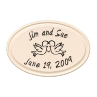 Birds Anniversary Ceramic Oval Petite Wall Plaque - Whitehall