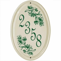 Dogwood Ceramic Standard Oval Wall Plaque - Whitehall