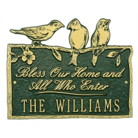 Whitehall Birds On a Branch Blessing Plaque