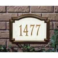 Williamsburg Artisan Stone Standard Wall-Lawn Plaque - Whitehall