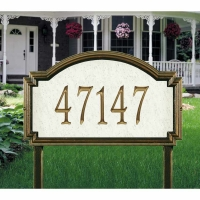Williamsburg Artisan Stone Estate Wall-Lawn Plaque - Whitehall