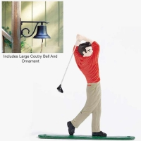 Large Country Bell with Golfer - 2 Finishes
