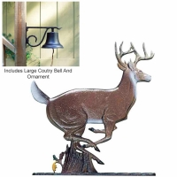 Large Country Bell with Buck - 2 Finishes