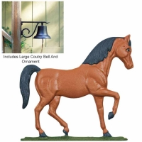 Large Country Bell with Horse - 2 Finishes