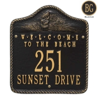 Welcome to the Beach Wall Plaque