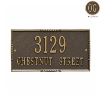 Brohman Standard Wall Address Plaque - Whitehall