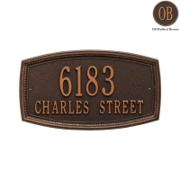 Croswell Standard Wall Address Plaque - Whitehall
