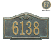 Gatewood Standard Wall Address Plaque - Whitehall