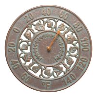 Whitehall Ivy Indoor Outdoor Wall Thermometer - Copper Verdigris