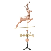 Deer 52 inch Rooftop Weathervane - Polished