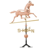 Horse 54 inch Rooftop Weathervane - Polished