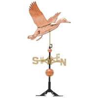Duck 37 inch Rooftop Weathervane - Polished