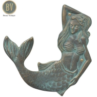Mermaid Left Towel Hook - Whitehall