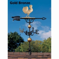 Rooster 46 inch Rooftop Weathervane - Whitehall
