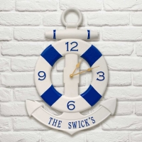 Personalized Anchor Clock - Whitehall