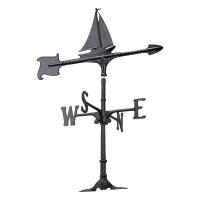Sailboat 30 inch Rooftop Weathervane - Whitehall