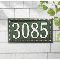 Egg and Dart Standard Wall-Lawn Plaque - Whitehall