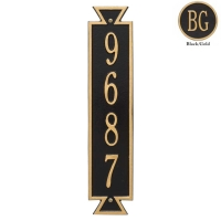 Exeter Vertical Standard Wall Plaque - Whitehall