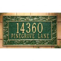 Pinecone Standard Wall Plaque - Whitehall