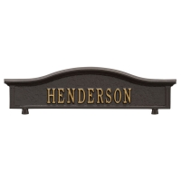 Two-Sided Personalized Mailbox Topper - Whitehall