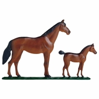 Mare & Colt 30 inch Rooftop Weathervane - Whitehall