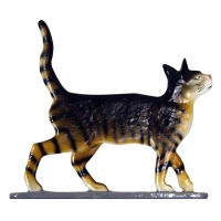 Cat Standing 30 inch Rooftop Weathervane - Whitehall