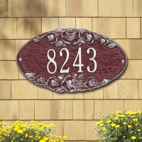 Rose Oval Standard Wall Plaque - Whitehall