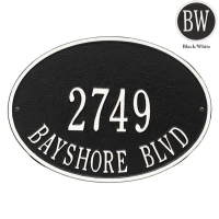Hawthorne Oval Standard Wall-Lawn Plaque - Whitehall