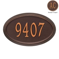 Concord Oval Standard Wall-Lawn Plaque - Whitehall