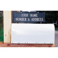 Two-Sided 2 Line Standard Mailbox Sign - Whitehall