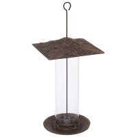 Cardinal 12 inch Tube Bird Feeder - Oil Rubbed Bronze