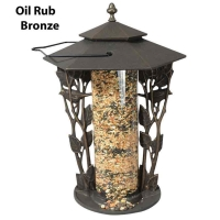 Chickadee 12 inch Silhouette Bird Feeder - Whitehall