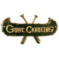 Gone Canoeing Plaque - Whitehall