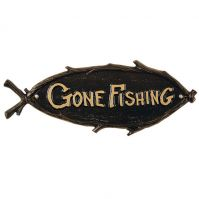 Gone Fishing Plaque - Whitehall Products