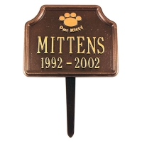 Our Kitty Cat Paw Lawn Marker - Whitehall