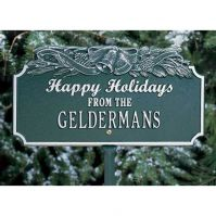 Happy Holidays w/Bells Lawn Plaque - Whitehall