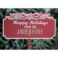 Happy Holidays w/Candy Canes Lawn Plaque - Whitehall