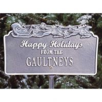 Happy Holidays w/Sleigh Lawn Plaque - Whitehall