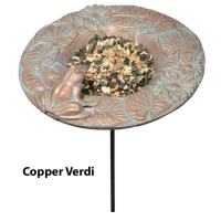 Frog Garden Bird Dish Feeder - Whitehall