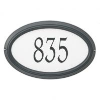 Concord Reflective Oval Estate Wall-Lawn Plaque - Whitehall