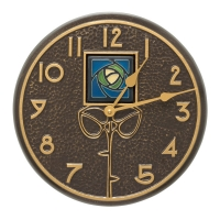 Whitehall Blue Dard Hunter Rose Indoor Outdoor Wall Clock